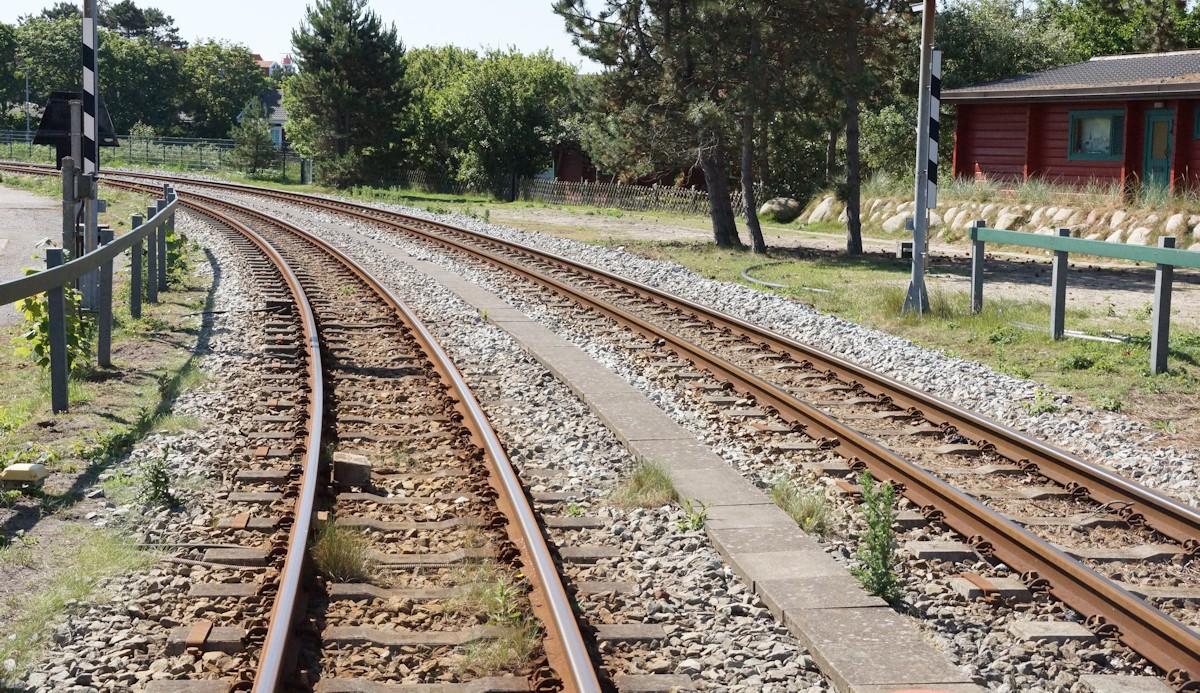 Schmalspurbahn Gleise Borkum