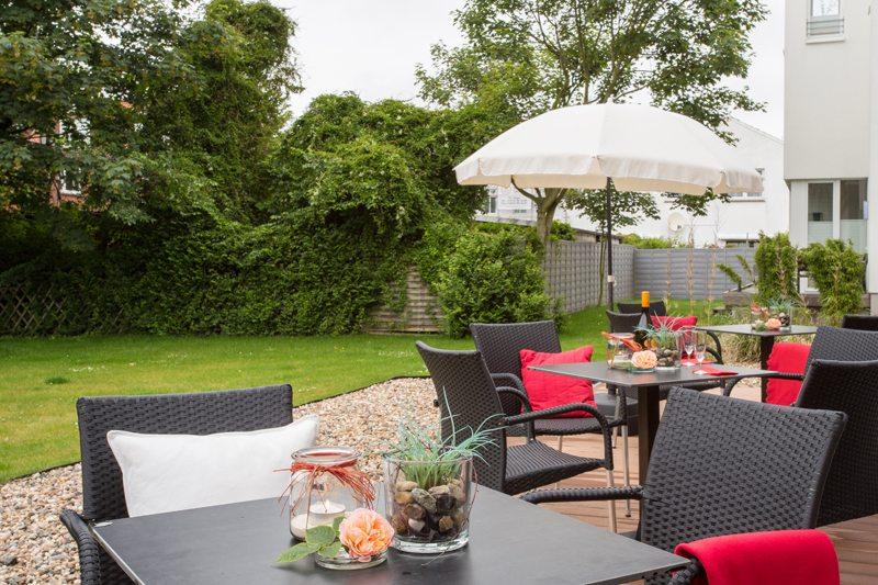 Terrasse vom Arthotel Bakker