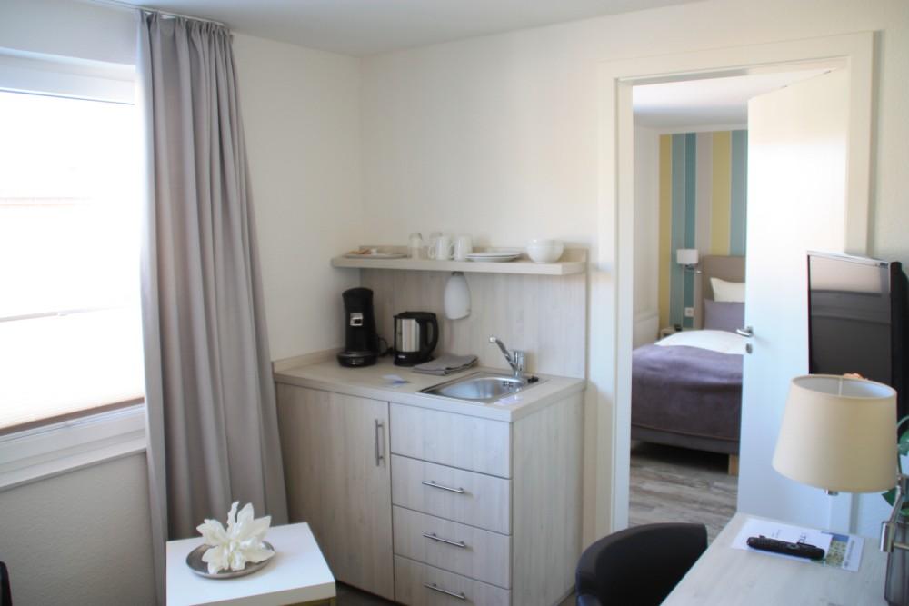 Doppelzimmer im Hotel Tide42 auf Borkum