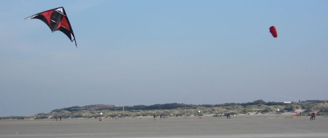 Lenkdrache auf Borkum am Strand