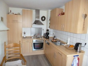 Küche in einer Fewo auf Borkum