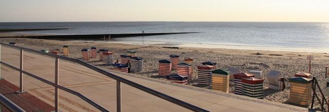 Strand von Borkum am Abend - Urlaub auf Borkum