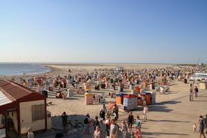 Strand von Borkum mit Strandkörben im Borkum Urlaub
