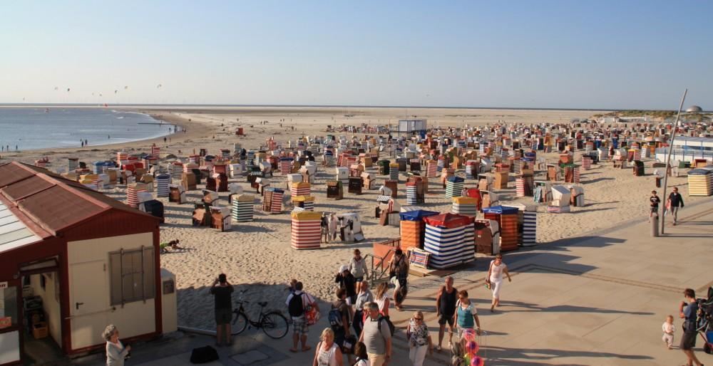 Strand von Borkum Hauptsaison